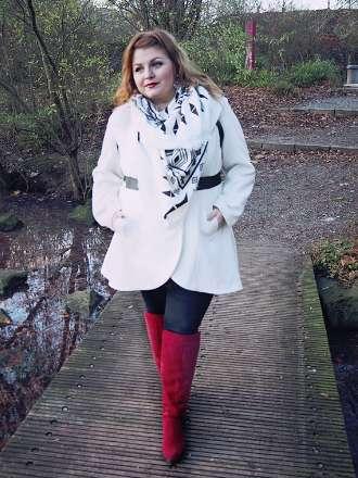 Weißer Mantel im Winter