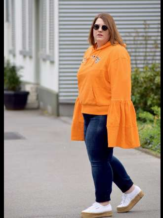 Orange Statement Hoodie