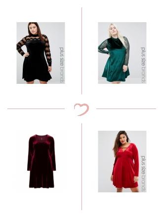 Samt Kleider Trend