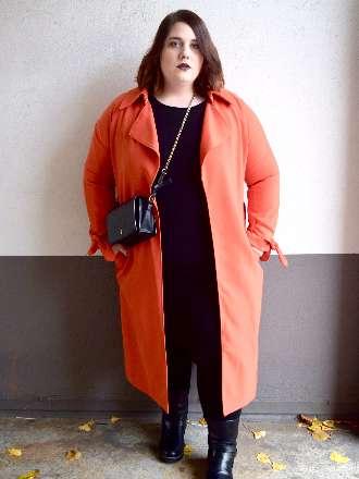 """Orangener Mantel und das """"kleine Schwarze"""""""
