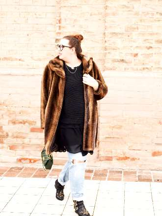 winterliches Outfit mit Fake Fur