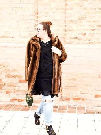 winterliches Outfit mit Fake Fur