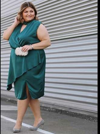 Smaragdgrünes Kleid für besondere Anlässe