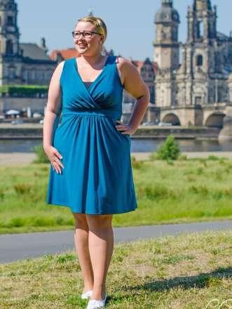 Sommer Kleid - einfarbig