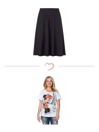 Skirt meets cool shirt