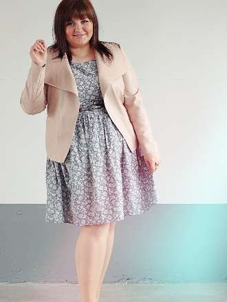 Plus Size Pastell Look