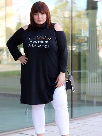 Cold Shoulder Plus Size Kleid