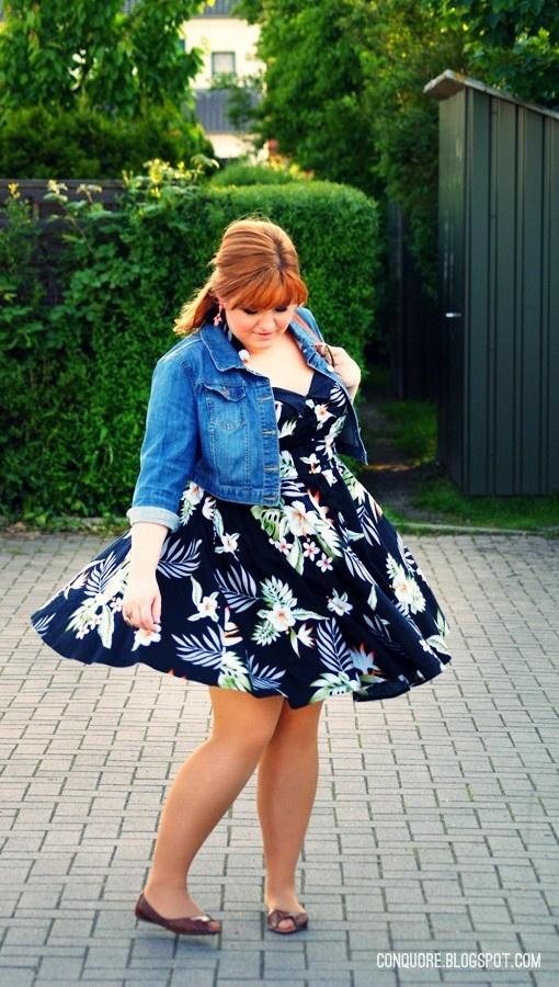 Plus Size Blog Buntes Sommerkleid große Größen