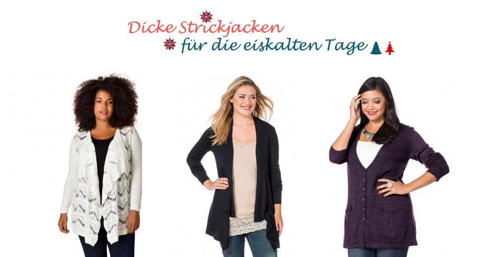 Dicke Strickjacken in großen Größen bei incurvy.de