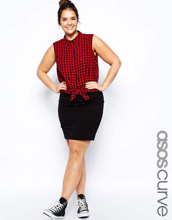 Auch Miniröcke können Plus Size Frauen tragen - hier entdecken!