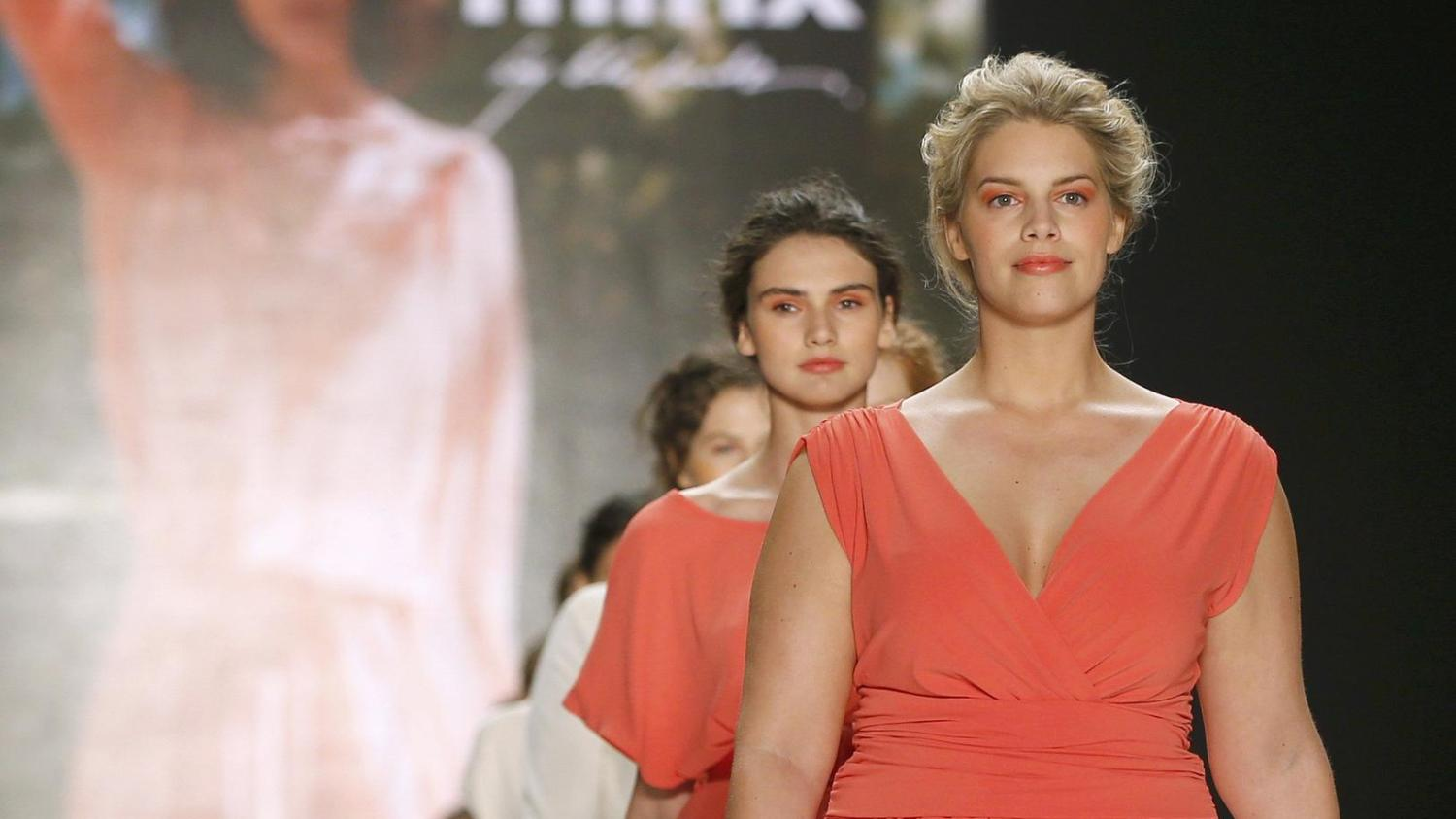 Plus Size Model auf der Berliner Fashion Week