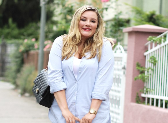 Longbluse Plus Size Outfit