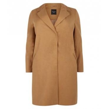 Plus Size Mantel kamelfarben hier auf incurvy!