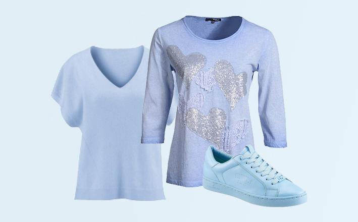 Hellblau Die Neue Trendfarbe Kombinieren Incurvy Plus Size