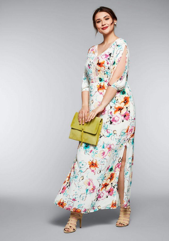Kleid mit Blumenprint - in großen Größen!