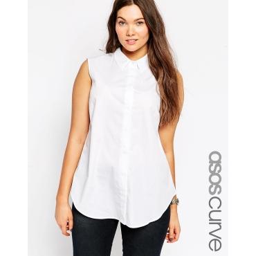 ASOS CURVE - Ärmelloses Hemd - Weiß