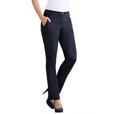 Elastische Hose mit extra Nähten blau Gr. 54 von Atelier Goldner Schnitt