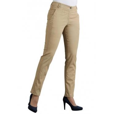 Elastische Hose mit extra Nähten braun Gr. 52 von Atelier Goldner Schnitt