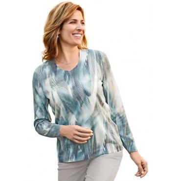 Hochwertiger Pullover mit individuellem Druck v... grün Gr. 52 von DiStrick