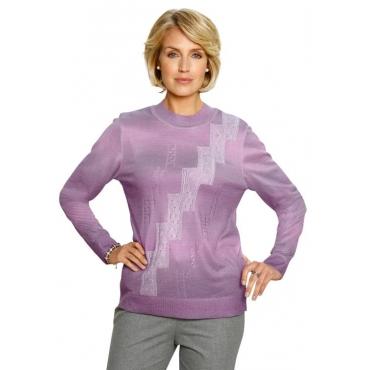 Hochwertiger Pullover mit platziertem Druck von... lila Gr. 54 von DiStrick