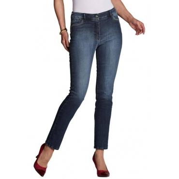 Jeans mit verzierten Taschen blau Gr. 54 von Atelier Goldner Schnitt