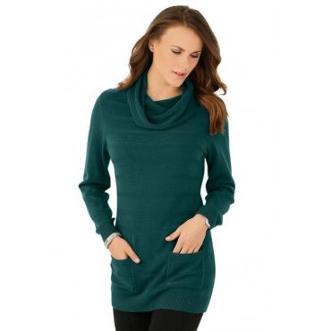 Langer Pullover grün Gr. 44 von Atelier Goldner Schnitt