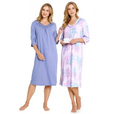Nachthemd-Set lila Gr. 40/42 von Ascafa