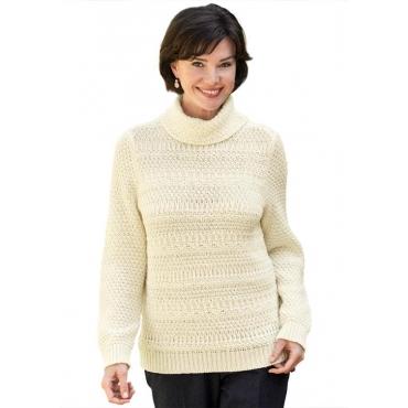 Pullover mit Alpaka-Wolle weiß Gr. 54 von Atelier Goldner Schnitt