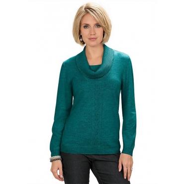 Pullover mit halsfernem Rollkragen grün Gr. 54 von Atelier Goldner Schnitt