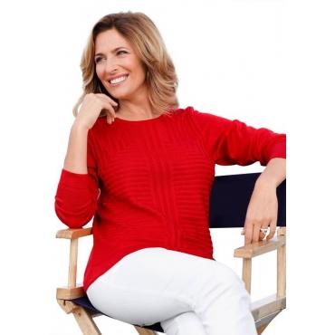 Pullover rot Gr. 50 von Atelier Goldner Schnitt
