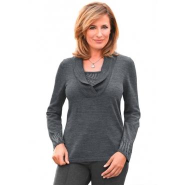 Leicht schimmernder Pullover schwarz Gr. 50 von Atelier Goldner Schnitt