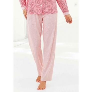 Pyjamahose rot Gr. 48/50 von Ascafa