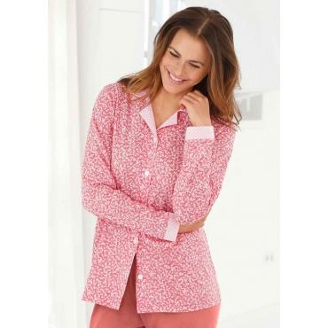 Pyjamaoberteil rot Gr. 44/46 von Ascafa