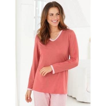 Pyjamaoberteil rot Gr. 48/50 von Ascafa
