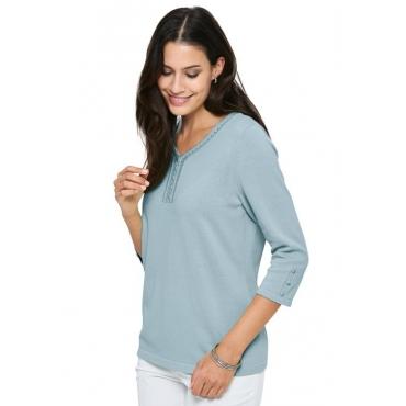 Schöner Pullover blau Gr. 44 von Atelier Goldner Schnitt