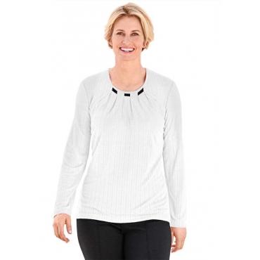 Shirt in Plissee-Ware weiß Gr. 54 von Atelier Goldner Schnitt