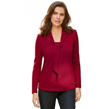 Shirt in Strickoptik rot Gr. 54 von Atelier Goldner Schnitt