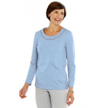 Shirt mit Applikation blau Gr. 52 von Atelier Goldner Schnitt
