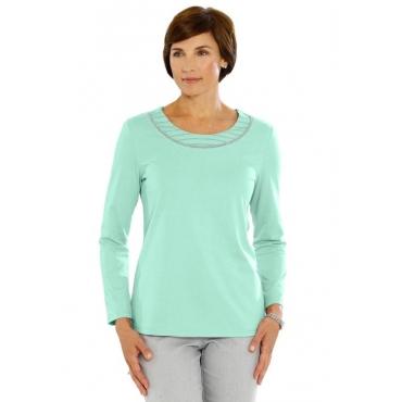 Shirt mit Applikation grün Gr. 52 von Atelier Goldner Schnitt