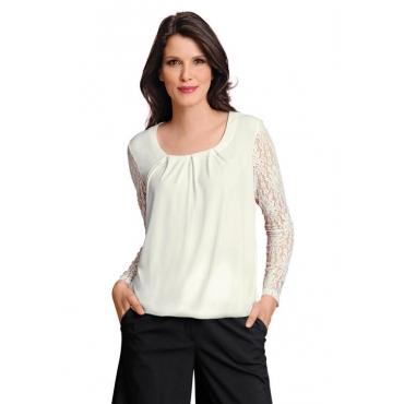 Shirt mit Spitze weiß Gr. 54 von Atelier Goldner Schnitt