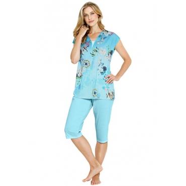 Sommerlicher Pyjama blau Gr. 44/46 von Atelier Goldner Schnitt