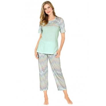 Sommerlicher Pyjama grün Gr. 48/50 von Atelier Goldner Schnitt