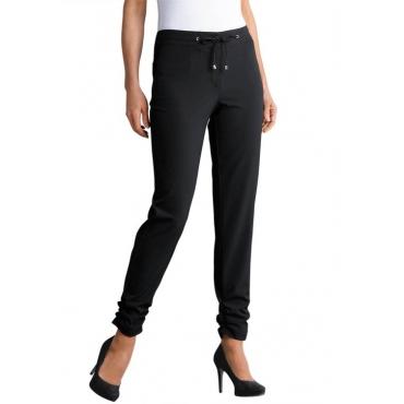 Stretch-Hose mit gerafftem Beinabschluss schwarz Gr. 50 von Atelier Goldner Schnitt