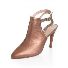 Alba Moda Stiefelette mit offenem Fersenbereich rosa 35,37,41,42