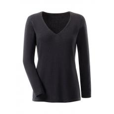 Ambria Damen Pullover Basic schwarz 48,50,52