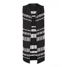 BRAX Damen BRAX Eve - Damenstrickweste Moderne Strickweste mit dezentem Muster schwarz 44