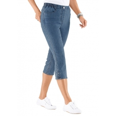 CLASSIC BASICS Damen Classic Basics Capri-Jeans mit Rundum-Dehnbund blau 48,50,52,54