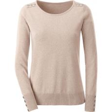 CLASSIC INSPIRATIONEN Damen Classic Inspirationen Pullover aus reiner Baumwolle braun 48,50,52,54