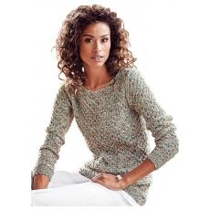CLASSIC INSPIRATIONEN Damen Classic Inspirationen Pullover mit weitem Rundhals-Ausschnitt braun 48,50,52,54