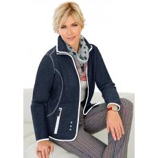 Collection L. Fleece-Jacke mit Antipilling-Ausrüstung COLLECTION L. blau 48,50,52,54